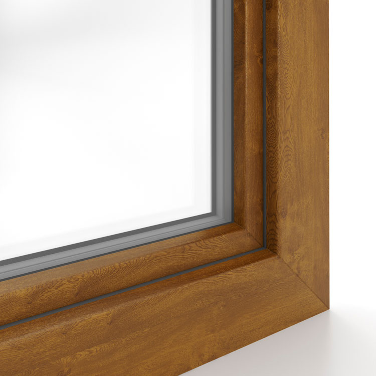 Fenster Aluplast golden oak